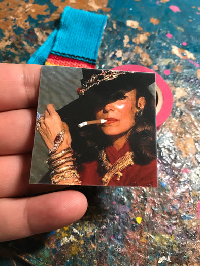 Maria Felix con Cigarro | Water Resistant Sticker | Cactus Sticker | Latina Sticker
