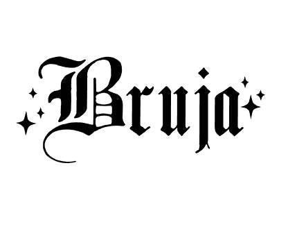 Bruja Old English Vinyl Cut Sticker for your Laptop, bumper, wall etc! By Very That
