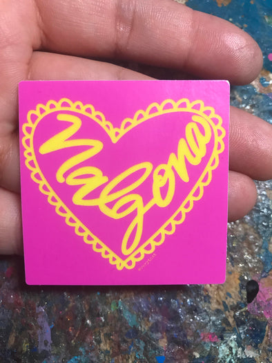 Pink Nalgona Vinyl Sticker  by Very That  | 2 x 2"