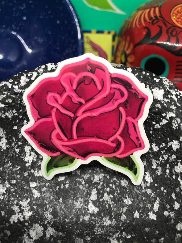 Rosa Salvaje sticker by Very That 3x3 inches, weather / waterproof perfect for your journals, planners, bike, car, etc!