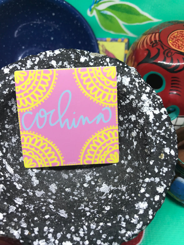 Cochina sticker by Very That 2x2 inches, weather / waterproof perfect for your journals, planners, bike, car, etc!
