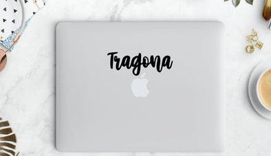 Tragona Cursive Vinyl Sticker | Transfer | Car Decal | Laptop Sticker by Very That --- Bumper sticker | vinyl Transfer | Yeti Sticker