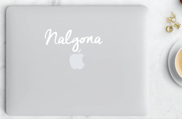 Nalgona Sticker in Cursive  Vinyl Sticker | Transfer Car Decal | Laptop Sticker by Very That Bumper sticker | vinyl Transfer | Yeti Sticker