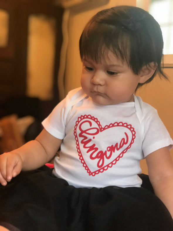 Chingona Heart by Very That | Baby onesie, personalized name baby onesie, custom onesie,  Baby girl clothes, Baby shower gift