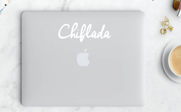 Chiflada Cursive Vinyl Sticker | Transfer | Car Decal | Laptop Sticker by Very That --- Bumper sticker | vinyl Transfer | Yeti Sticker