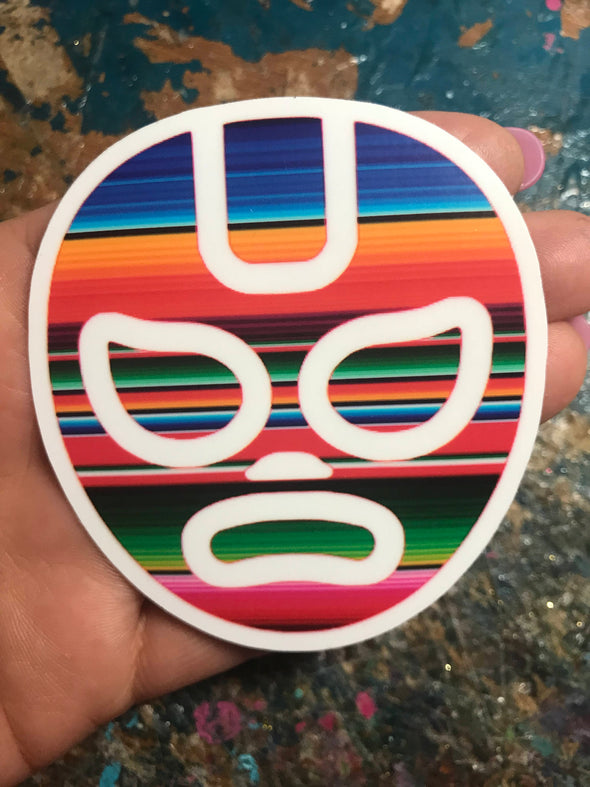 Lucha Libre Serape Sticker 3x3' by Very That  weather / waterproof perfect for your journals, planners, bike, car, etc!