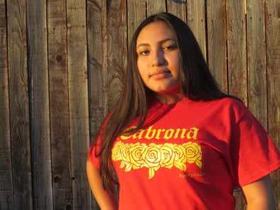 Red & Yellow Cabrona Tee by Very That | Cabrona T Shirt | Latina Tee | Chicana | Latinx | Now in Soft Style!