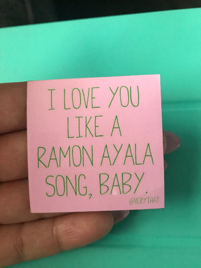 Like a Ramon Ayala Song, Baby Sticker by Very That  | Water Resistant Sticker | Cactus Sticker | Latina Sticker