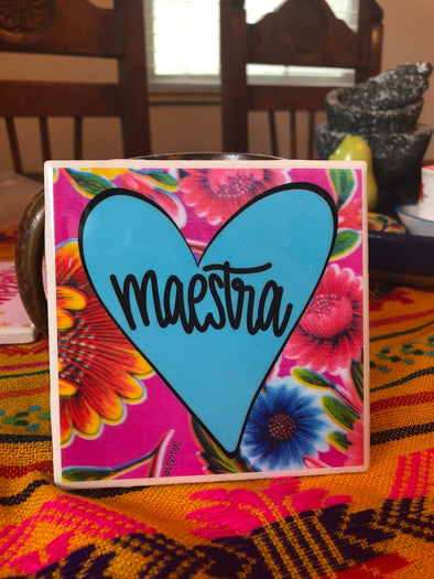Maestra Tile | Coaster | by VeryThat == water resistant, y shiny!