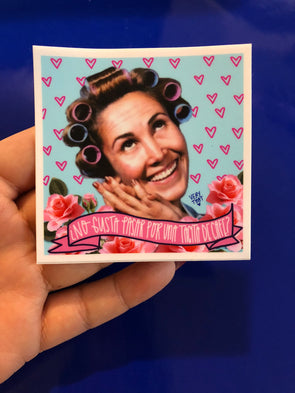 "Que Romantico Doña Florinda 3x3"" Sticker by Very That  weather / waterproof perfect for your journals, planners, bike, car, etc!"