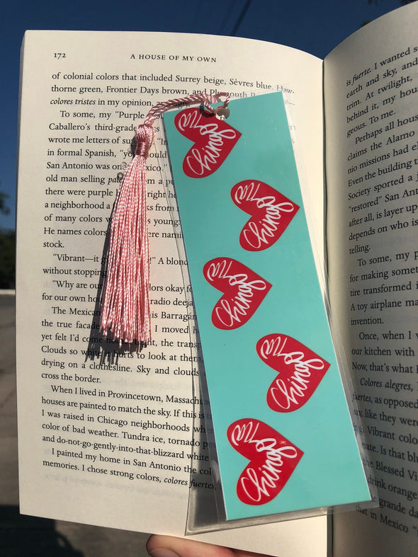 Chingona Heart Bookmark - Teal and Red - by Very That