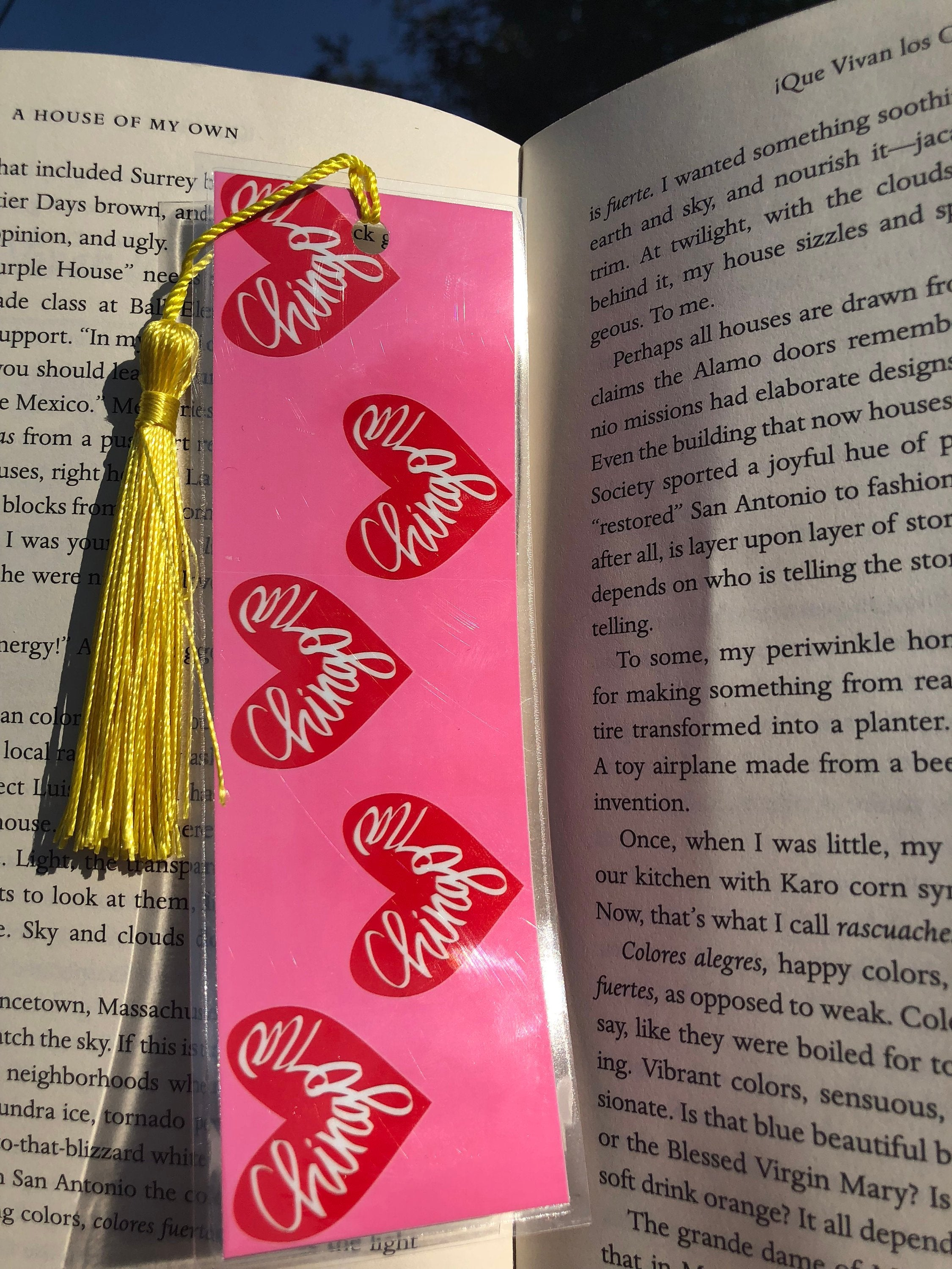Chingona Heart Bookmark - Pink and Red - by Very That – Very That
