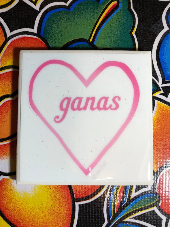 Ganas Heart Tile | Coaster | by VeryThat == water resistant, y shiny!