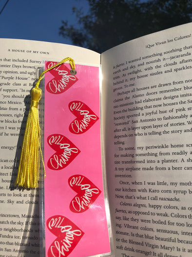 Chingona Heart Bookmark - Pink and Red - by Very That