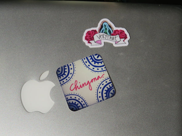 Chingona Vinyl Sticker- Very That design, perfect for planners, bumpers, etc!