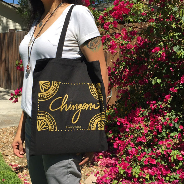 Gold Chingona Tote by Very That