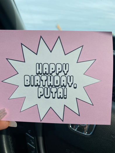 Happy Birthday Puta Note Card