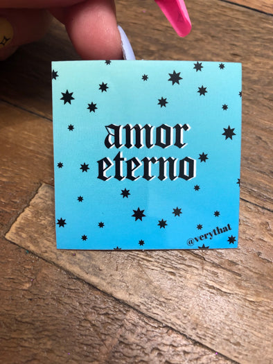 Amor Eterno sticker 2x2""