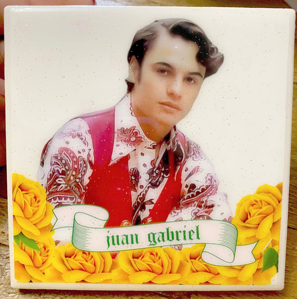 Juan Gabriel Yellow Roses Tile / Coaster (new)
