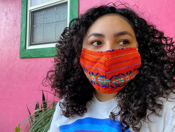 Orange Mexican Face Mask - M10