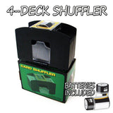 4 Deck Playing Card Shuffler w/ Batteries