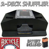 Bicycle 2-Deck Playing Card Shuffler w/ Batteries