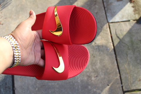 1560b6e78ce3 Nike Benassi Transition Gold Check Slides – iKustomKapz