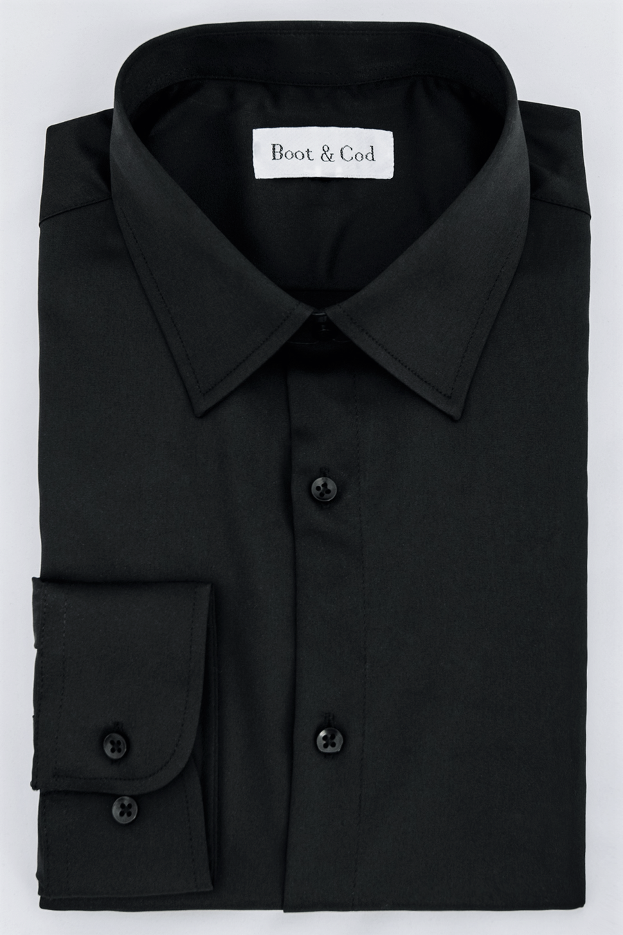 Performance Classic Black Dress Shirt