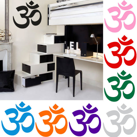 AUM Om Symbol, Wall, Car, Computer, Decal Sticker - Hinduism, Spiritual, Yoga