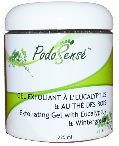 PODOSENSE EXFOLIATING GEL W' EUCALYPTUS & WINTERGREEN - RETAIL (225ML)