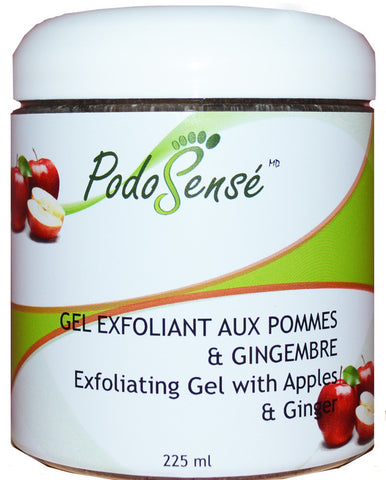 PODOSENSE EXFOLIATING GEL W' APPLES & GINGER - RETAIL (225ML)