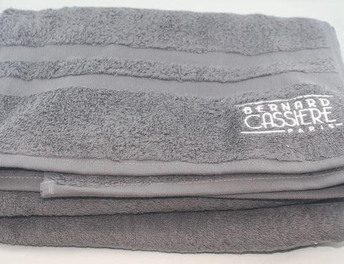 BERNARD CASSIERE GREY BATH TOWEL