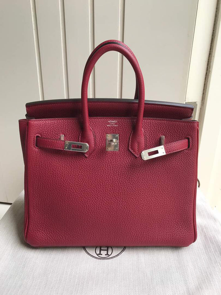 Hermès Birkin 25 Rouge Grenat Togo Palladium Hardware PHW X Stamp 2016 <!18946875> - The French Hunter