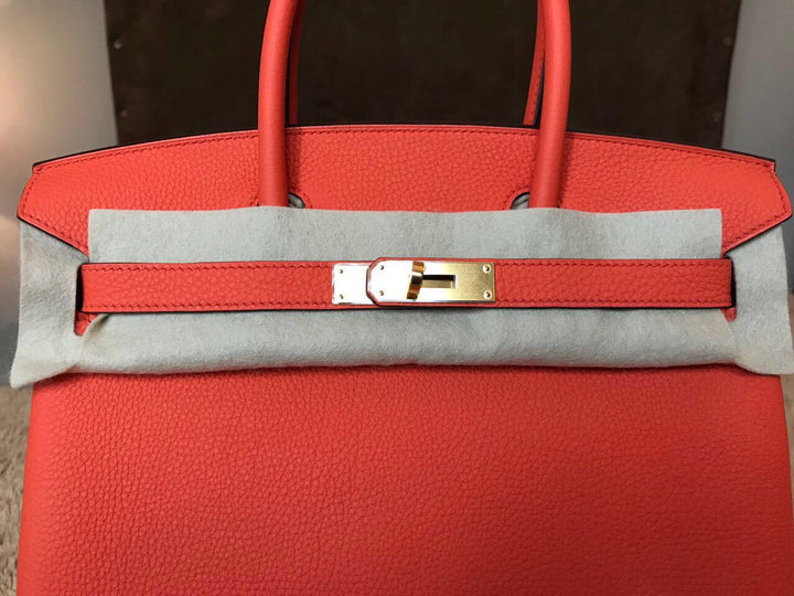 Hermès Birkin 30 Orange Poppy Togo Gold Hardware GHW A Stamp 2017 <!19054912> - The French Hunter