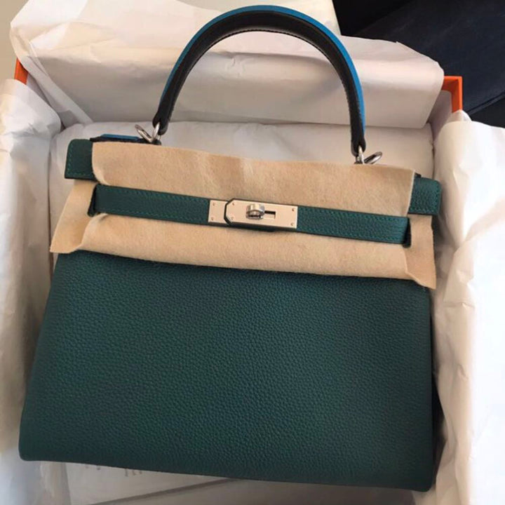 Hermès Kelly Limited Edition 28 Malachite Au pas Togo Palladium Hardware PHW A Stamp 2017 <!27962447> <!SOLD> <!SOLD> - The French Hunter