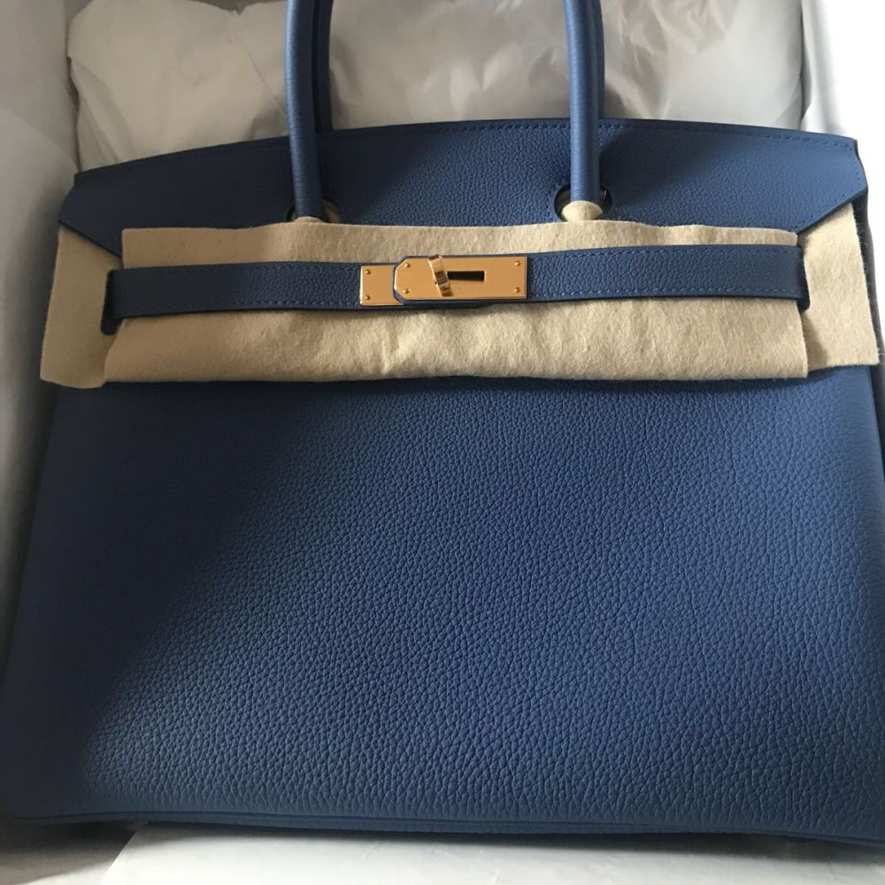 Hermès Birkin 30 Bleu Brighton Togo Gold Hardware GHW C Stamp 2018 <!27987860> <!SOLD> <!SOLD> <!SOLD> <!SOLD> <!SOLD> - The French Hunter