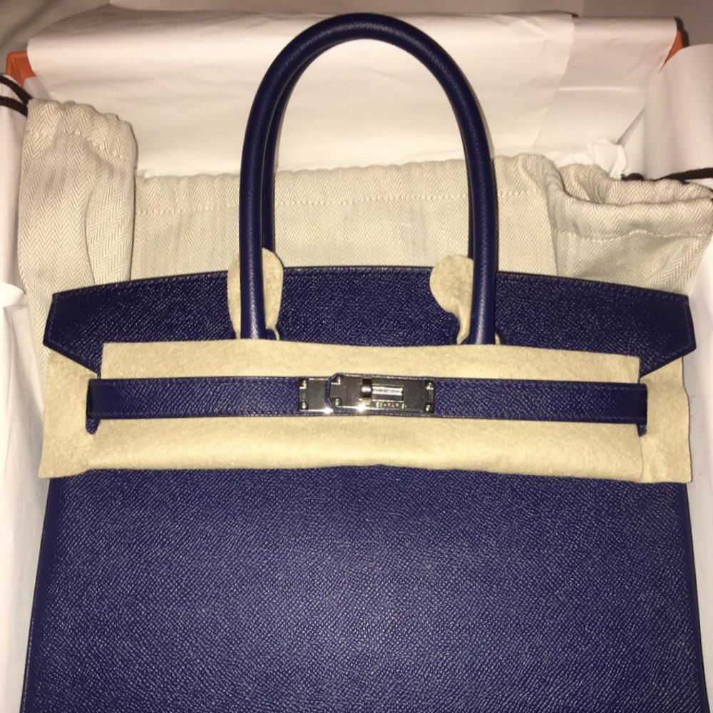 Hermès Birkin 30 Bleu Saphir Epsom Palladium Hardware PHW A Stamp 2017 <!28085097> - The French Hunter