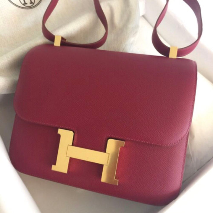 Hermès Constance 24 Rubis Epsom Gold Hardware GHW X Stamp 2016 <!28199327> - The French Hunter