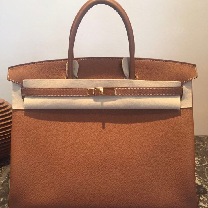 Hermès Birkin 40 Gold Togo Gold Hardware GHW C Stamp 2018 <!28260046> <!SOLD> <!SOLD> - The French Hunter