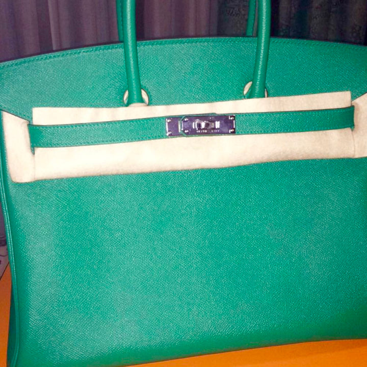 Hermès Birkin 35 Vert Vertigo Epsom Palladium Hardware PHW C Stamp 2018 <!28297170> <!SOLD> - The French Hunter