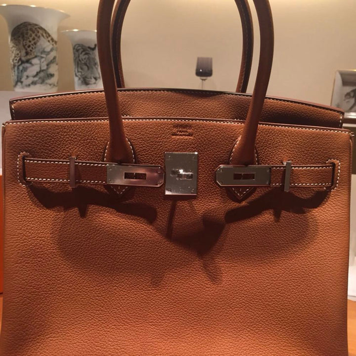 Hermès Birkin 30 Fauve Barenia Faubourg Palladium Hardware PHW C Stamp 2018 <!28297342> <!SOLD> <!SOLD> <!SOLD> <!SOLD> <!SOLD> - The French Hunter