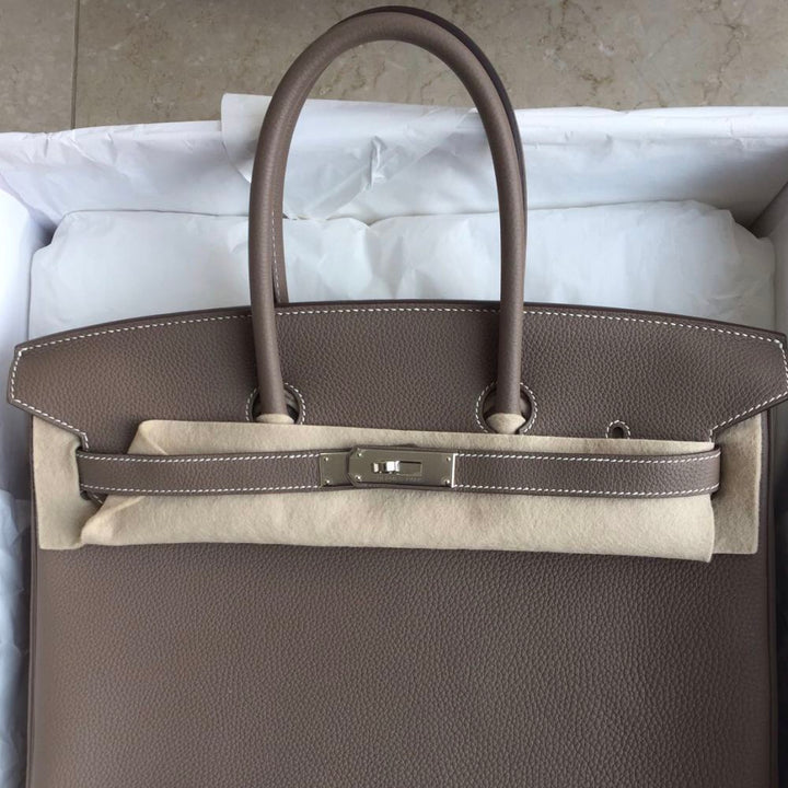 Hermès Birkin 35 Etoupe Togo Palladium Hardware PHW A Stamp 2017 <!28310024> - The French Hunter