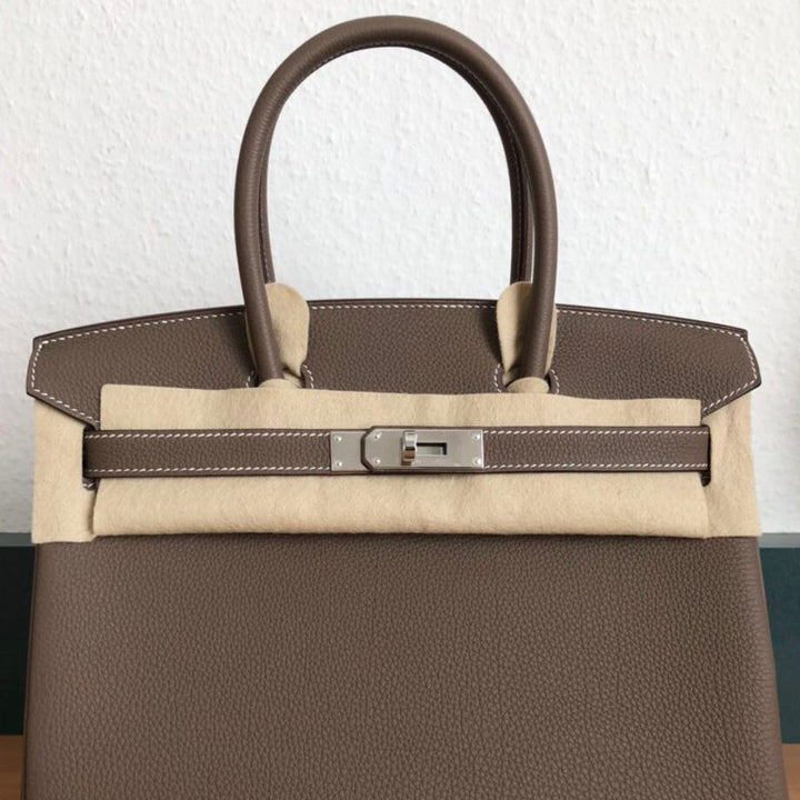 Hermès Birkin 30 Etoupe Togo Palladium Hardware PHW C Stamp 2018 <!28352557> - The French Hunter