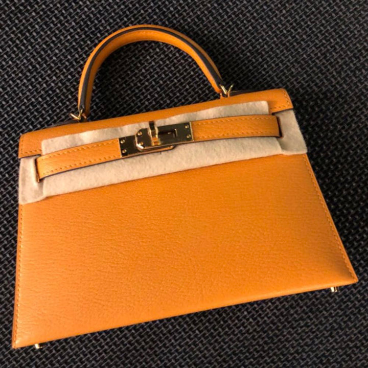 Hermès Kelly 20 Moutarde Sellier Chevre Mysore Gold Hardware GHW C Stamp 2018 <!28353088> <!SOLD> <!SOLD> <!SOLD> <!SOLD> - The French Hunter