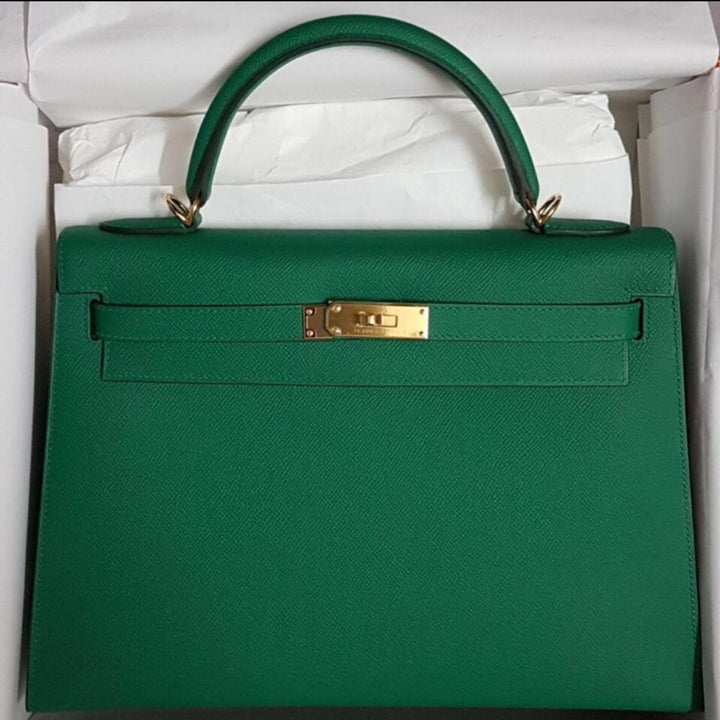 Hermès Kelly 32 Vert Vertigo Sellier Epsom Gold Hardware GHW C Stamp 2018 <!28366716> <!SOLD> <!SOLD> - The French Hunter
