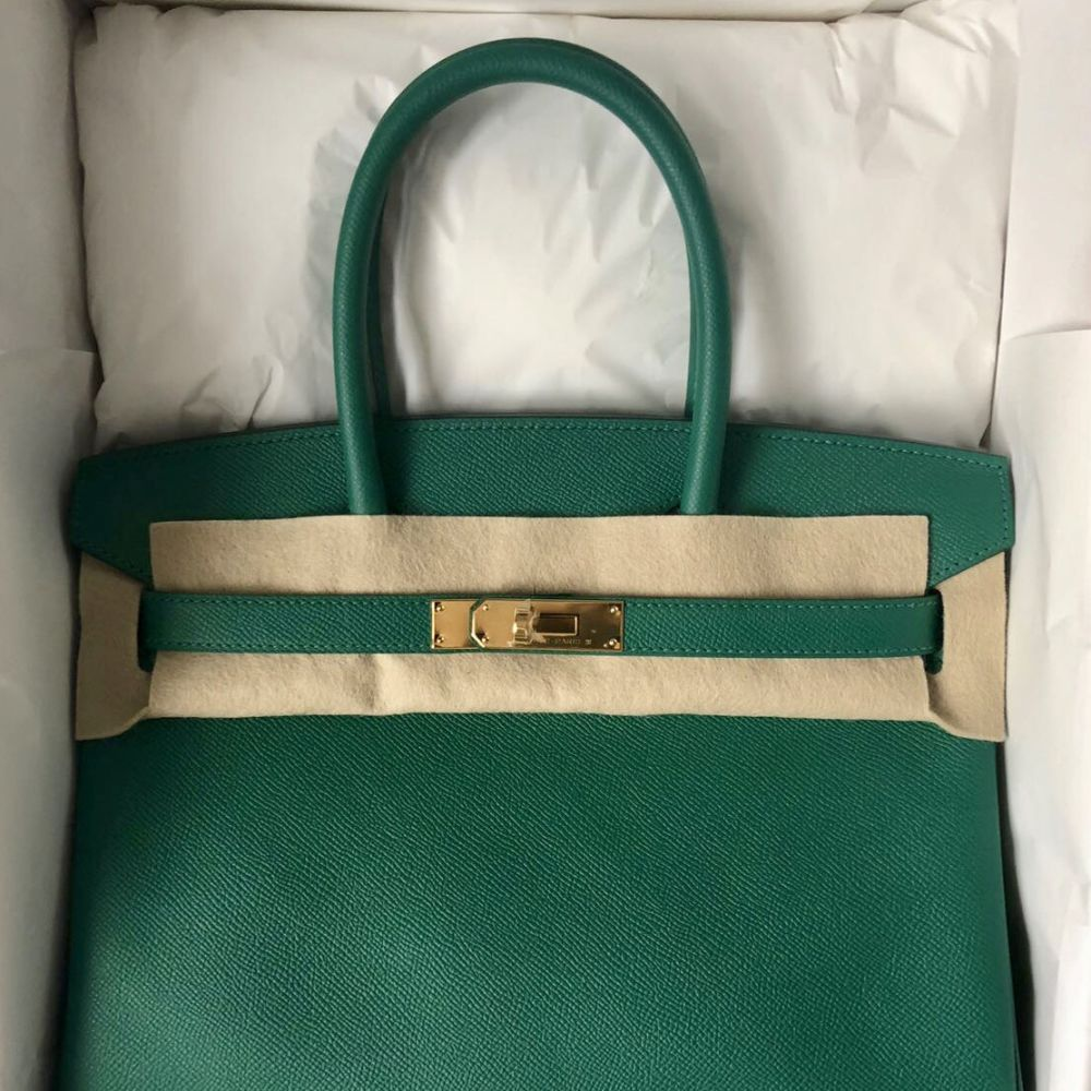 Hermès Birkin 30 Vert Vertigo Epsom Gold Hardware GHW C Stamp 2018 <!28432904> <!SOLD> <!SOLD> - The French Hunter