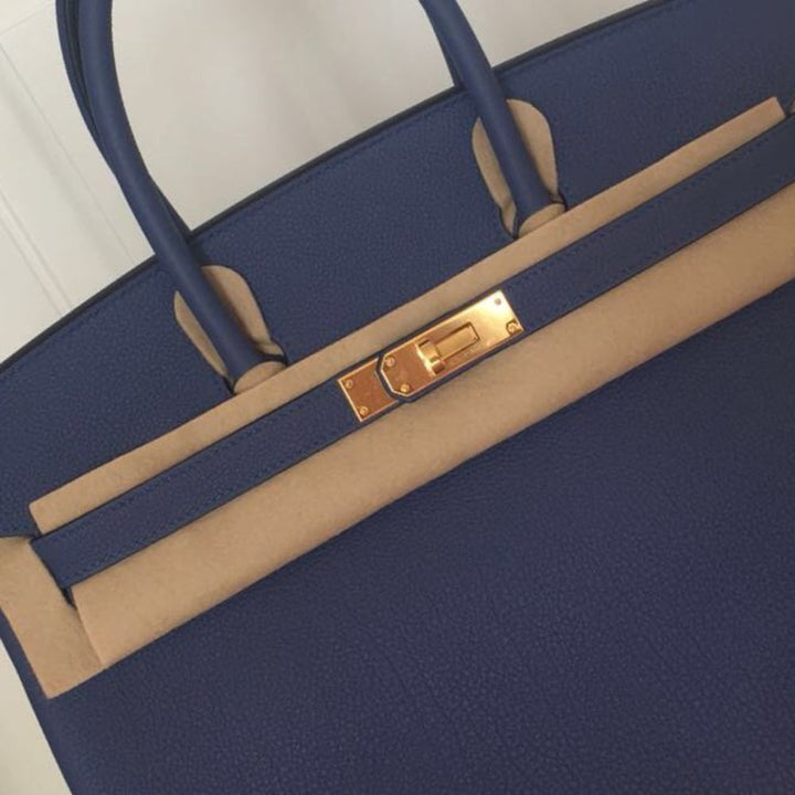 Hermès Birkin 30 Bleu Brighton Togo Gold Hardware GHW C Stamp 2018 <!28444909> - The French Hunter