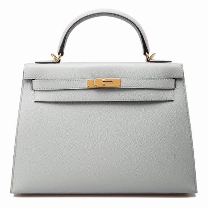 Hermès Kelly 32 Bleu Glacier Sellier Epsom Gold Hardware GHW X Stamp 2016 <!28479824> - The French Hunter