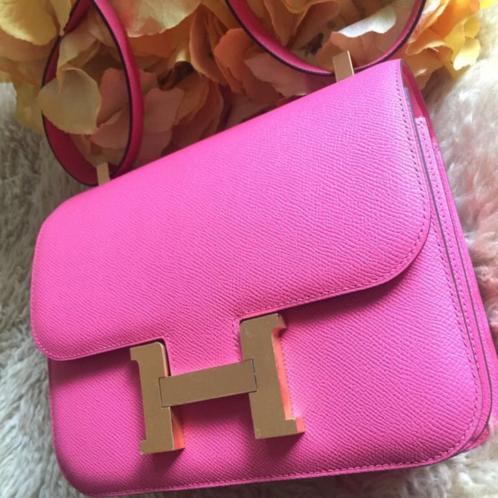 Hermès Constance HSS 24 Rose Azalee Epsom Gold Hardware GHW C Stamp 2018 <!28598346> <!SOLD> <!SOLD> - The French Hunter