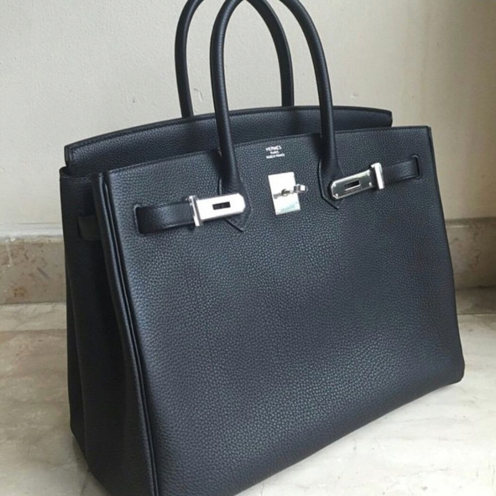 Hermès Birkin 35 Noir (Black) Togo Palladium Hardware PHW A Stamp 2017 <!28814959> - The French Hunter